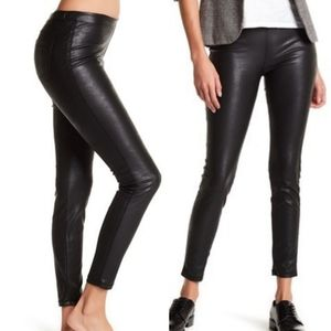 BLANK NYC Denim Faux Leather Pull-On Leggings